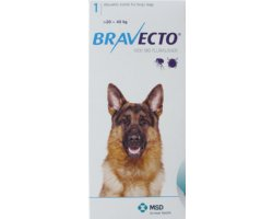 Bravecto Chewables Large Dog Blue Double Pack 1000mg