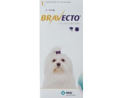 Bravecto Chewables Very Small Dog Yellow Double Pack 112.5mg