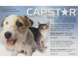 Capstar Cat and Sml Dog  6 Pack