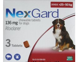 Nexgard Extra Large Dog Red  6 Pack