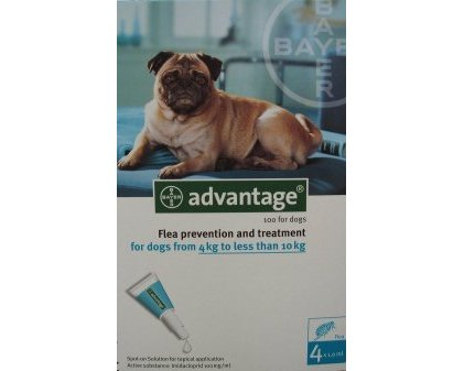Advantage Medium Dog Teal  8 Pack
