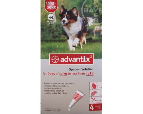 Advantix Large Dog Red  4 Pack (DO NOT USE ON CATS)