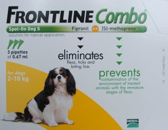 Frontline Combo Small Dog Orange  3 Pack