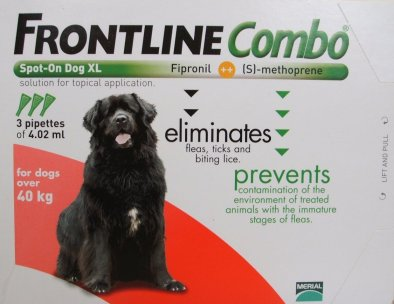 Frontline Combo Extra Large Dog Red  3 Pack