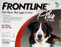 Frontline Plus Extra Large Dog Red  3 Pack