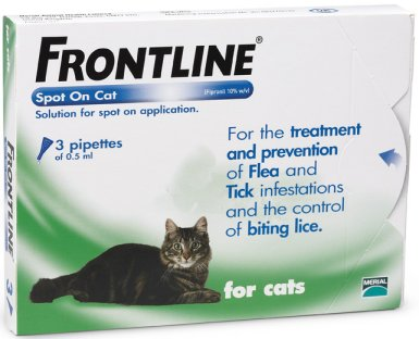 Frontline Spot On Cat Green  3 Pack