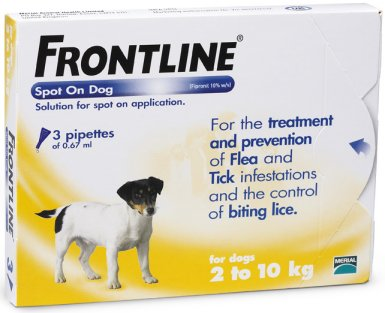 Frontline Spot On Small Dog Orange  3 Pack