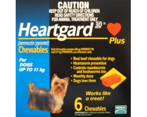 Heartgard Chewables Blue  6 Pack