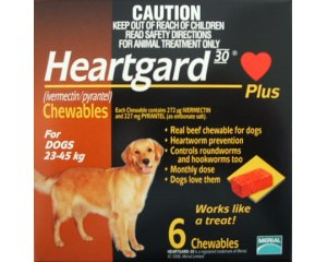 Heartgard Chewables Brown  6 Pack